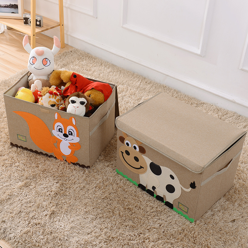 Cartoon Cotton Linen Storage Box Thickening Large Storage Boxes Children  Goods Sorting Boxes Toy Boxes In Storage Boxes U0026 Bins From Home U0026 Garden On  ...