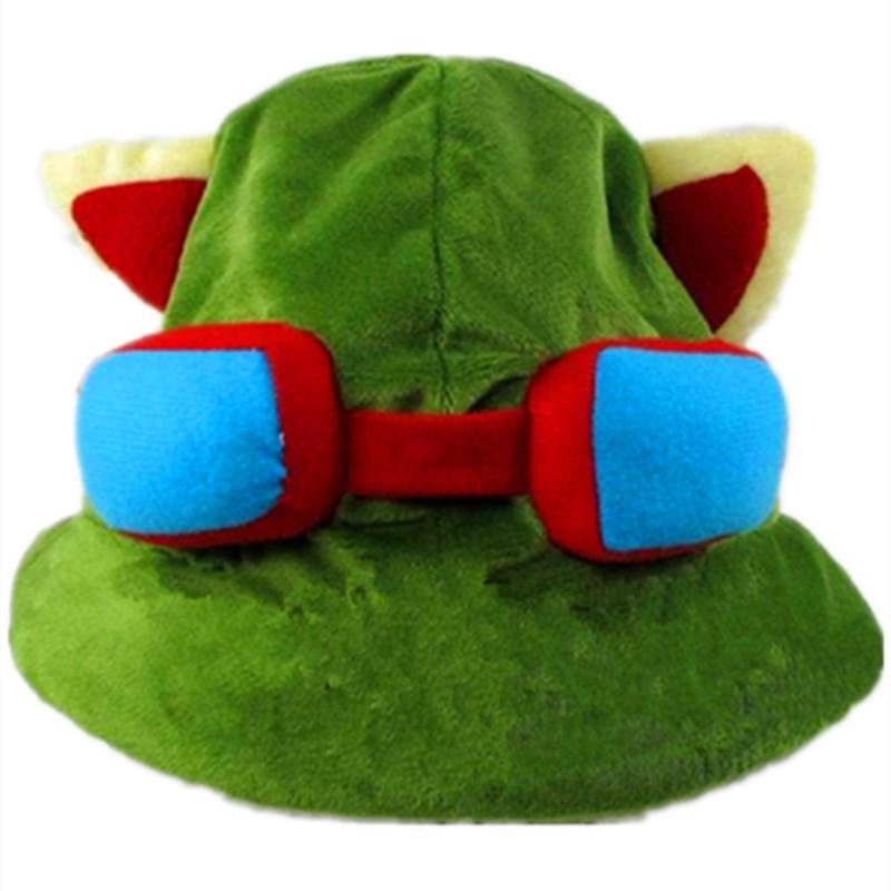 Straightforward Hot Sale The Swift Scout Temo Lulu Hero Alliance Cosplay Hat Games Green Timor Tmo Cap Cartoon Plush Soft Rammus Kennen Warm Hat
