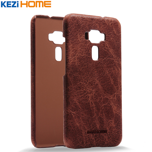 Para o caso asus zenfone 3 ze552kl, retro genuíno couro de vaca capa hard case voltar para asus zenfone3 ze552kl casos de telefone 5.5''