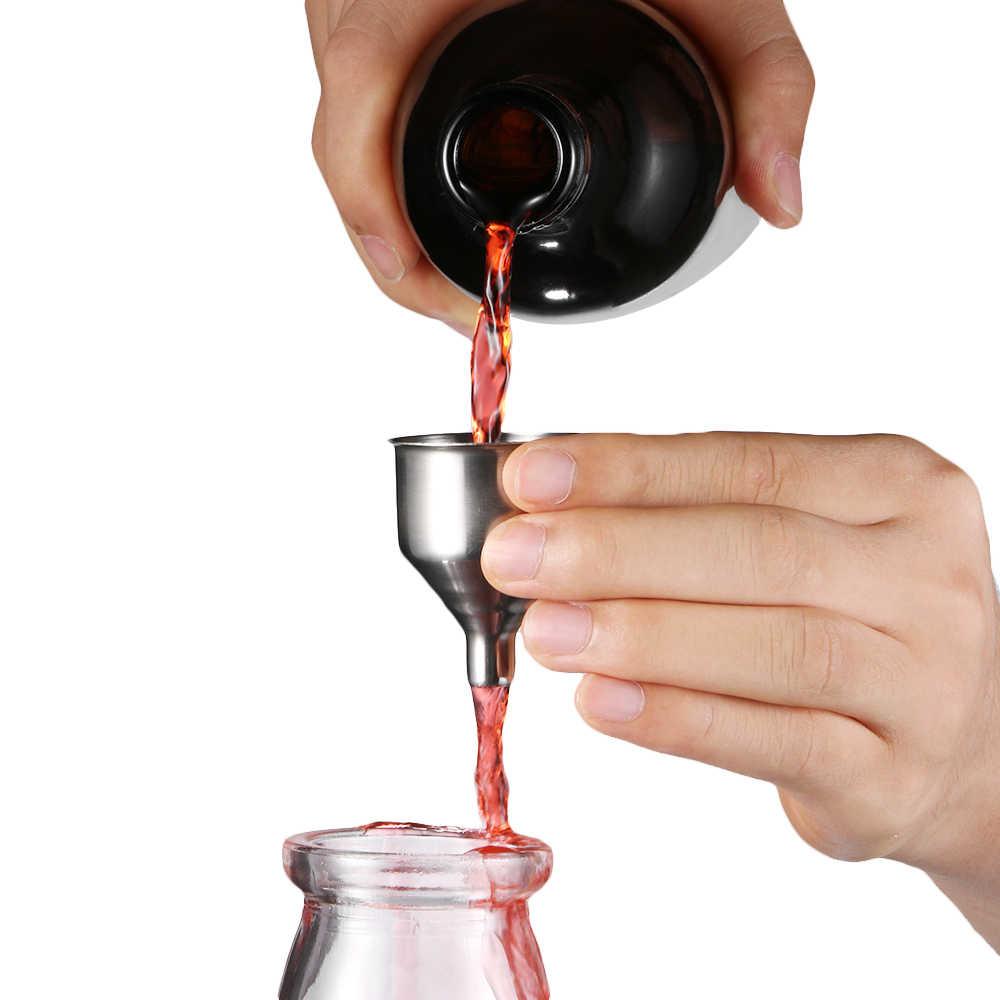 1/3Pcs Nuovo Mini Bar In Acciaio Inox Fiasco di Vino Imbuto Bocca Piccola Imbuti Per Il Riempimento di Fiaschetta di Birra conserviera Strumenti di Liquido
