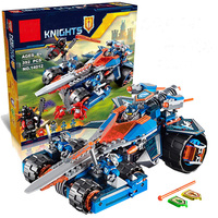 LEPIN Knights Building Blocks Set Clay S Rumble Blade 70315 Transformation Chariot Assembled Toys Compatible Nexus