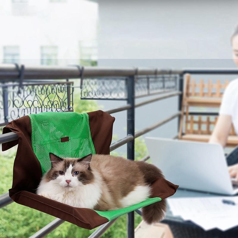 100% Waar Huisdier Duurzaam Kat Opknoping Bedden Stoelen Huisdieren Hangmat, Afneembare Wasbare Balkon Kitten Swing Sprei, Niet Inclusief Ijzeren Frame Ruime Levering En Snelle Levering
