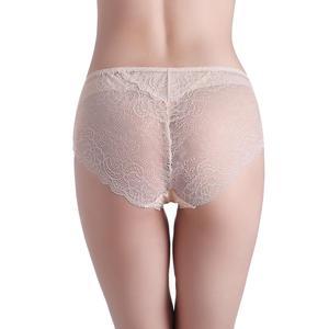Image 3 - SuyaDream Women Lace PANTIES 100% Natural silk Sexy Beriefs Low Rise Underwear Nude Pink Everyday Underwear
