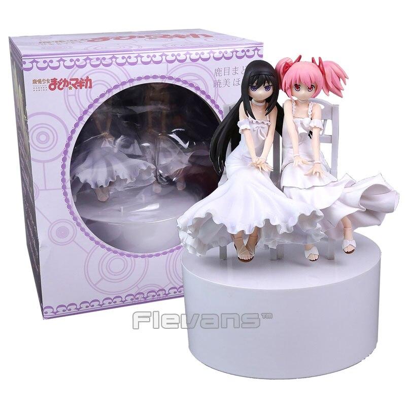ФОТО Puella Magi Madoka Magica Kaname Madoka Akemi Homura White Dress PVC Figure Collectible Model Toy