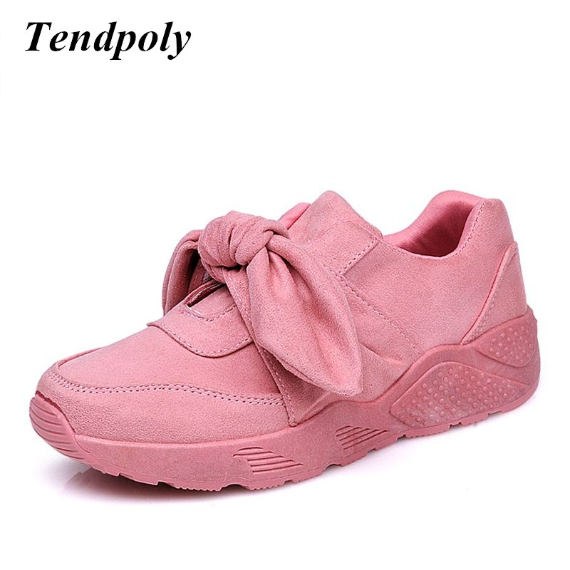 New European and American fashion retro women's shoes 2018 spring and autumn bow tie with round wild shoes Hot explosions casual spring and autumn new star models with the same paragraph casual women s shoes hot fashion joker shoes breathable canvas shoes