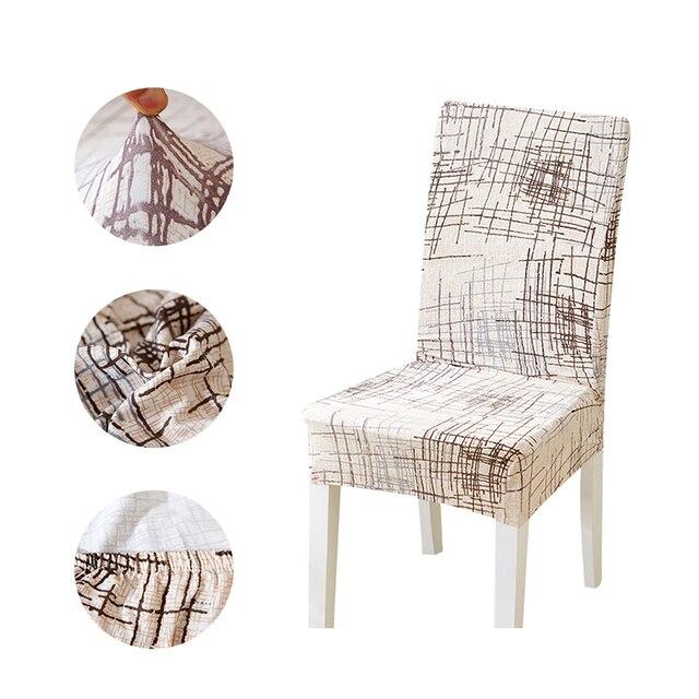 Forcheer كرسي يغطي الحديثة المطبخ مقعد حالة كرسي زفاف يغطي دنة مرونة الطباعة الأزهار لغرفة الطعام