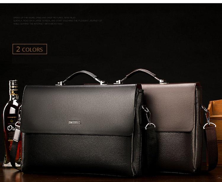 HTB1FuZ O4jaK1RjSZFAq6zdLFXak 2020 Fashion Business Men Briefcase Leather Laptop Handbag Tote Casual Man Bag For male Shoulder Bag Male Office Messenger Bag