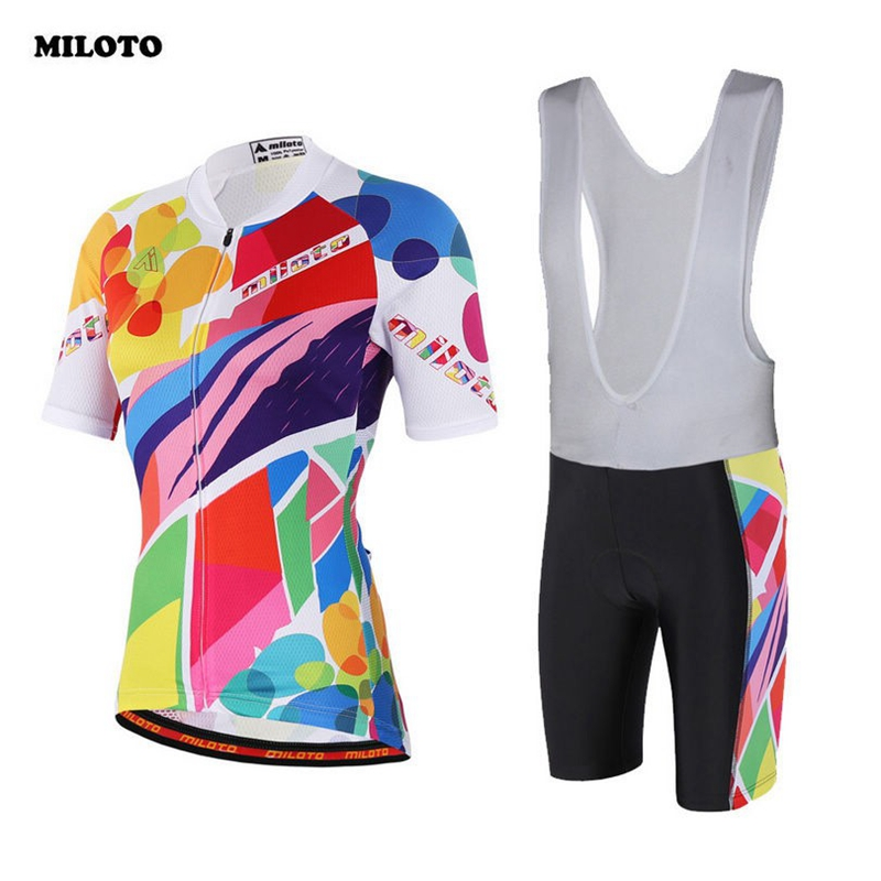 2017 Womens Ropa Ciclismo Cycling Jersey (Bib) Shorts Kit Coolmax Girls Bike Shirts Wear Clothing Set S-4XL