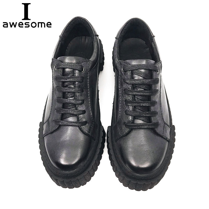 Handmade Fashion Shoes Luxury Brand Men flats 100% genuine soft leather casual Footwear flat lace up Breathable Men Sneakers 410