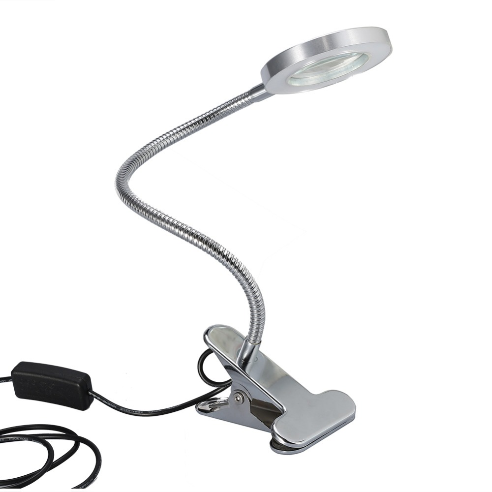 Led Tattoo Desk Tattoo 2.5X Magnifier Light USB Lamp With Clamp Permanent Makeup Eyebrow Tattoo Nail Art Lamp Salon