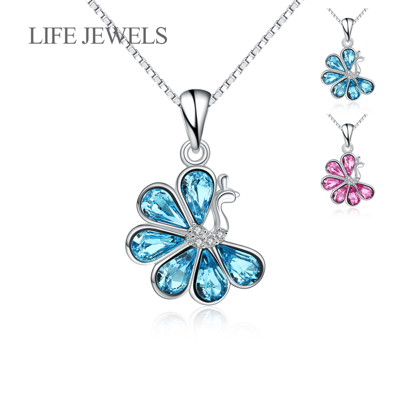 Authentic 100 925 Sterling Silver Crystal Peacock Pendants Charm l Women Luxury Sterling Silver Valentine 39 s Day Gift Jewelry in Charms from Jewelry amp Accessories