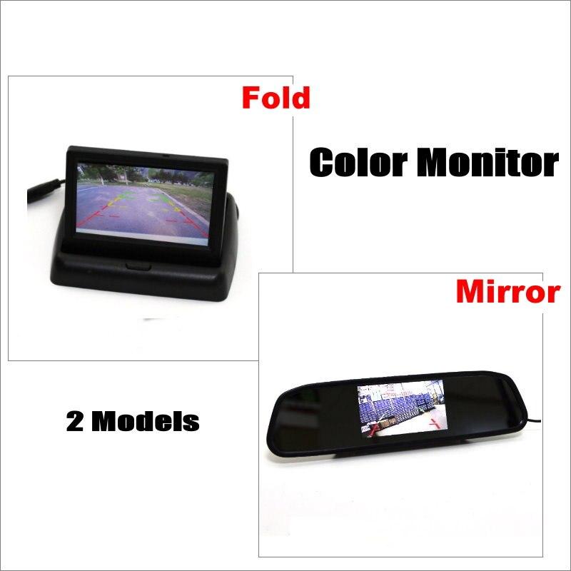 Liislee Moniteur de Rétroviseur de Voiture/Plié/Affichage LCD NTSC PAL Couleur TV Système de Sécurité Arrière caméra