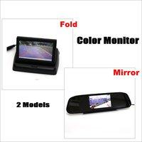 Liislee Auto Achteruitkijkspiegel Monitor/Gevouwen Scherm/LCD NTSC PAL Kleur TV Beveiligingssysteem Voor Reverse Rear Camera