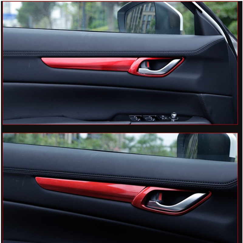 4 PCS car door handle cover ring modified special ABS For Mazda CX 5 CX5 2017