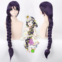 High quality LoveLive! Love Live Cosplay Wig Nozomi Tojo Costume Play Adult Wigs Halloween Anime Hair Fairy tale braids
