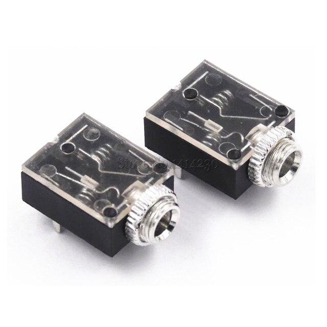 Heißer verkauf 5 Pin 3,5mm Stereo Audio Jack Socket PCB Panel Mount für Kopfhörer Mit Mutter PJ-324M