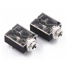 5Pcs 5 Pin 3.5mm Audio Jack Socket PCB Panel Mount for Headphone With Nut