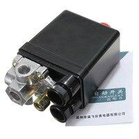90-120PSI Heavy Duty Compressor de Ar Interruptor Da Válvula De Controle de Pressão 12 Bar 20A de CORRENTE ALTERNADA 220 V 4 Port 12.5x8x5 cm Melhor preço