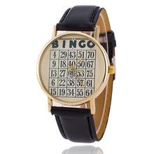 Мода Кожаный Ремешок Женщины BINGO Часы Повседневная Женева Часы Relogio женщина для 1806