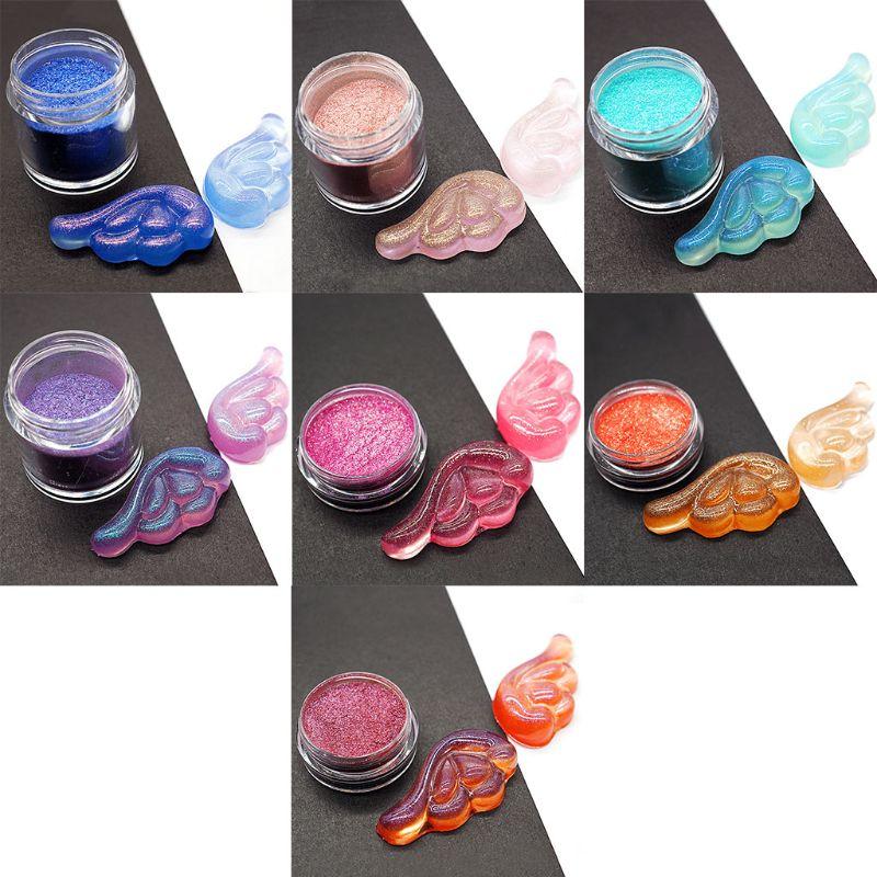 7 Pcs/set Glitter Floating Powder DIY Handmade Crystal UV Glue Epoxy Mold Jewelry Making Accessories