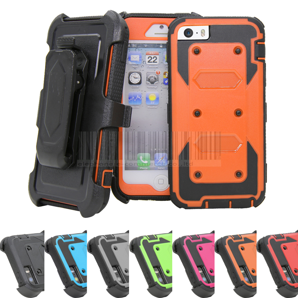 Heavy Duty Anti-Shock Future Armor Protective Case Cover+Holster With Belt Clip For Apple iphone 5/5s/SE/6/6S Plus/7/7 Plus