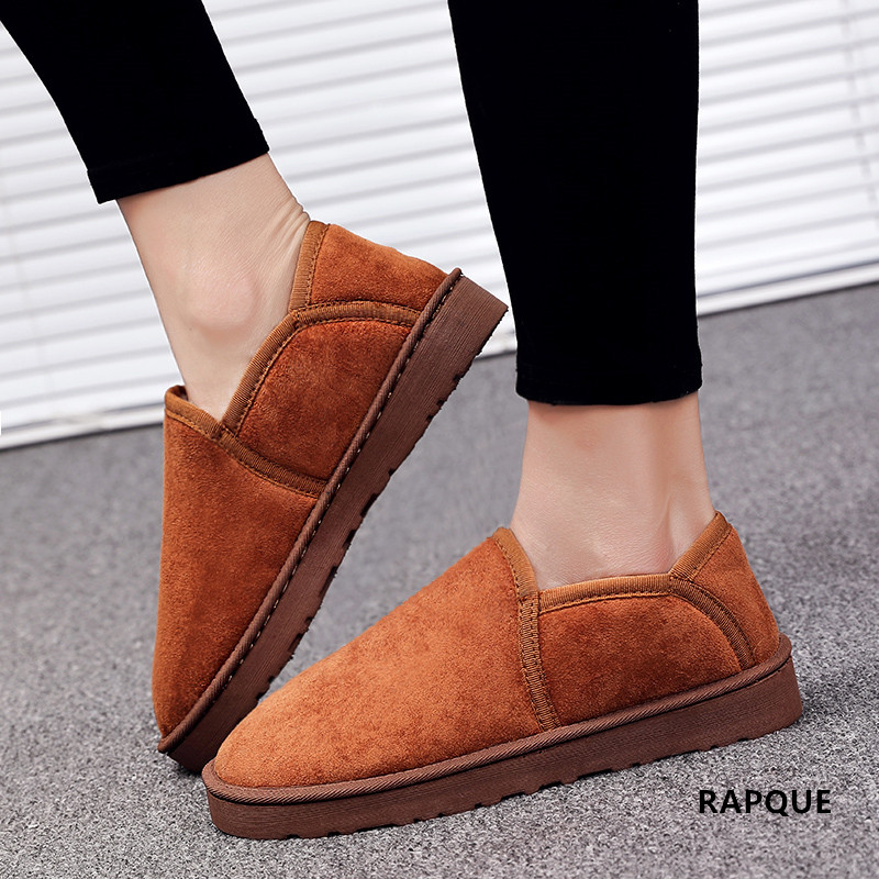 4ee5d908ed59827 Роскошная дизайнерская женская домашняя обувь для влюбленных, Мужская  зимняя теплая обувь из флока с мехом