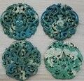 Encantos azul handmade material Ansiava Clássica do vintage Padrão de Estilo Tradicional Chinesa Antiga jade gem stone colar pingente