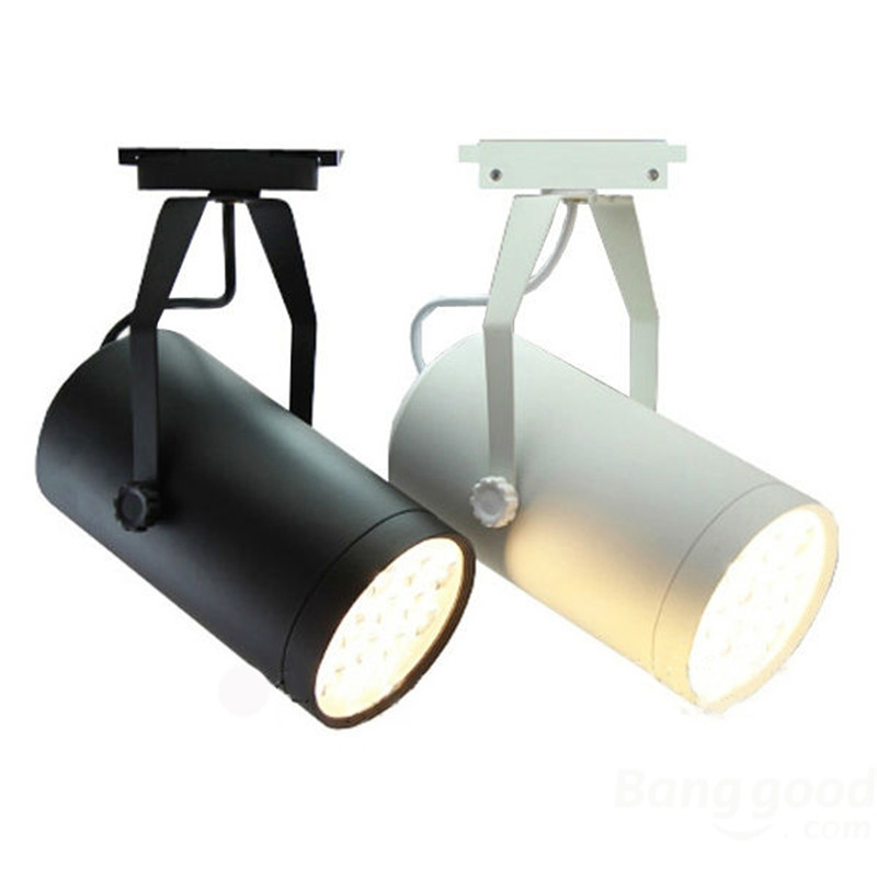 Good Quality 7W LED Track Light Clothes shop track lighting Black or White body rail light