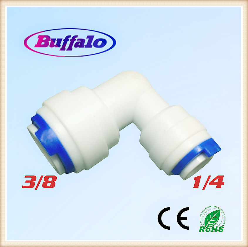 100PCS 1/4 OD Hose Quick Connection 3/8 Pipe Elbow Union Connector RO Water Reverse Osmosis Aquarium System Connector Fitting water valve connector sucking pipe of filling machine water drawing hose pvc pipe steel spring inside food safe od 40mm 2m