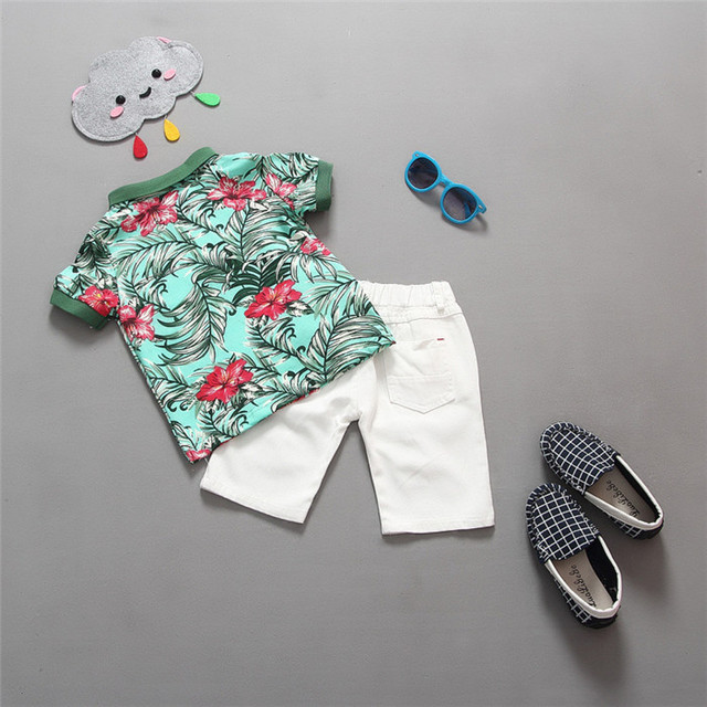 Hot sale! 2019 Summer style Children clothing sets Baby boys girls t shirts+shorts pants sports suit kids clothes