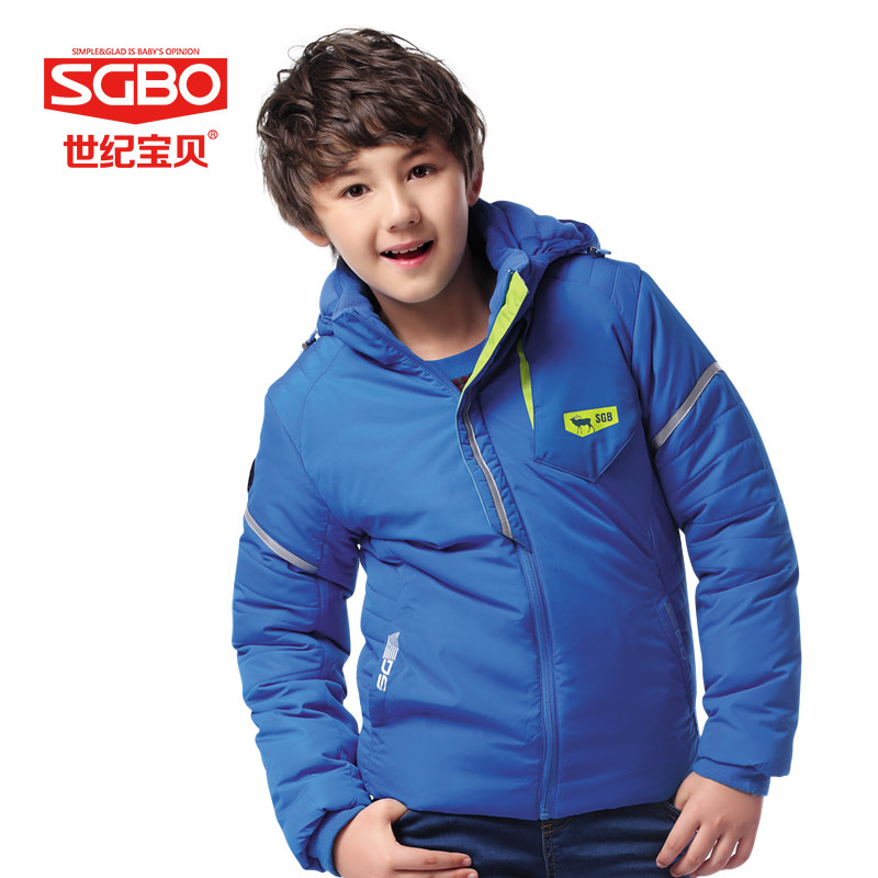 SGBO High Quality Boys Winter Jacket Coat Thick Warm Coat Kids Hooded Outerwear Casual Boy Down Parka Children Clothing 9C3190 high quality boys thick down jacket 2017 winter new children warm detachable cap coat clothing kids hooded down outerwear
