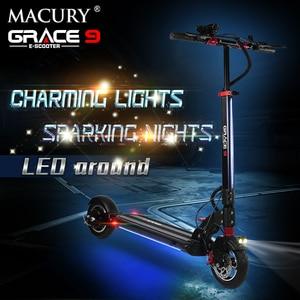 Image 2 - Macury patinete eléctrico GRACE9 GRACE & ZERO 9, aeropatín plegable de 2 ruedas, 8 pulgadas, para adultos, ZERO9, 8,5 pulgadas, ligero, Mini, plegable, T9, 9S, 48V