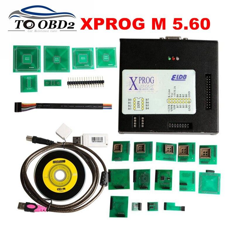 Prix pour 2017 New Sortie V5.60 XPROG M ECU Programmeur Boîte En Métal Auto Diagnostic XPROG-M Mieux Que V5.55 X-PROG Stable Fonction