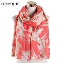 Floral scarfs for Women Pashmina Blue Green Pink Flower Shawl Wraps Foulard Femme Scarves Fashion Ladies цена