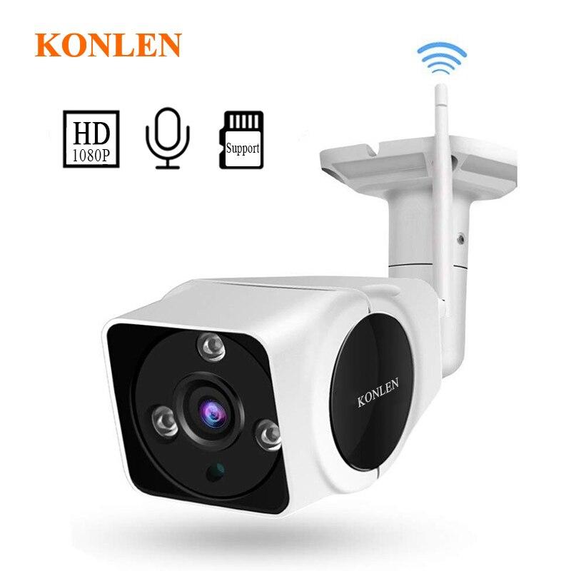 KONLEN 1080P Full HD Audio Security Camera Outdoor Wifi Camhi IMX323 Bullet IP Cam Surveillan CCTV