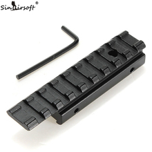 New CNC machining Dovetail Weaver Picatinny Rail Adapter 11mm to 20mm Tactical Scope Extend Mount