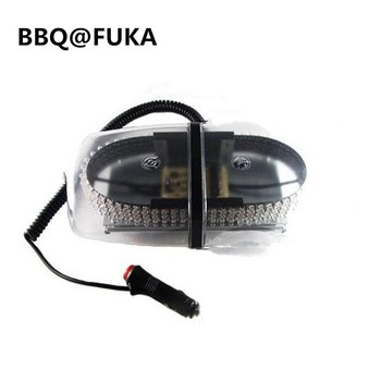 BBQ@FUKA 1pcs 240 LED Amber Light Bar Roof Top Emergency Warning Light Flash Strobe Truck Car Fit For Universal Car-Styling