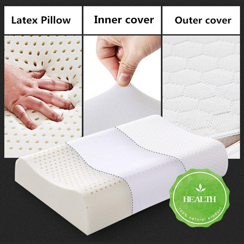 Image 5 - Таиланд натуральная латексная кровать Шейная Подушка забота о  здоровье Ортопедическая подушка для шеи Dunlopillo подушка из латексной  пены для сна AlmohadaПодушки на кровать