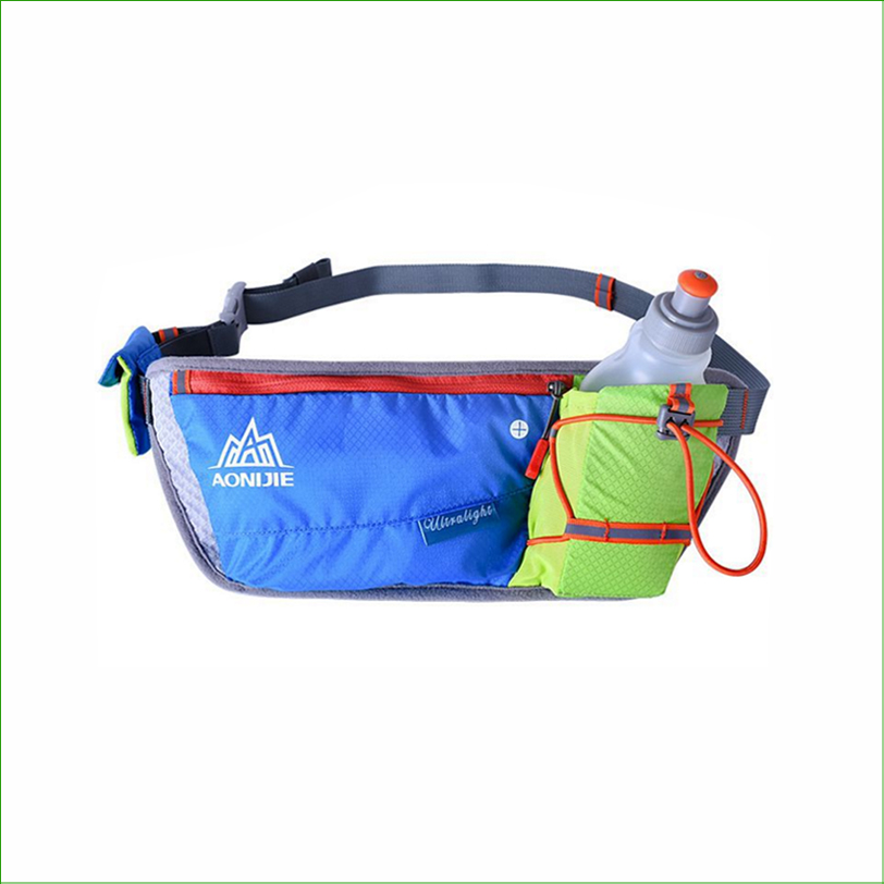 RWS04 New Running Running Jogging Water Bottle Waist Bag Pack Reflective Bag Belt Hydration With Bottles Water 1pc