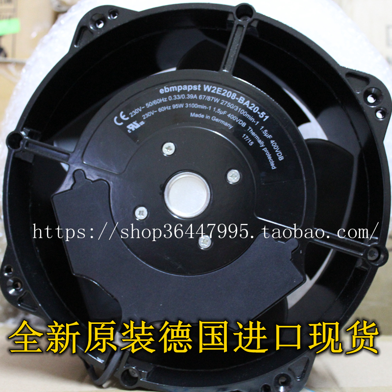 NEW FOR EBMPAPST W2E208-BA20-01-51 AC230V 80mm Frequency converter cooling fan