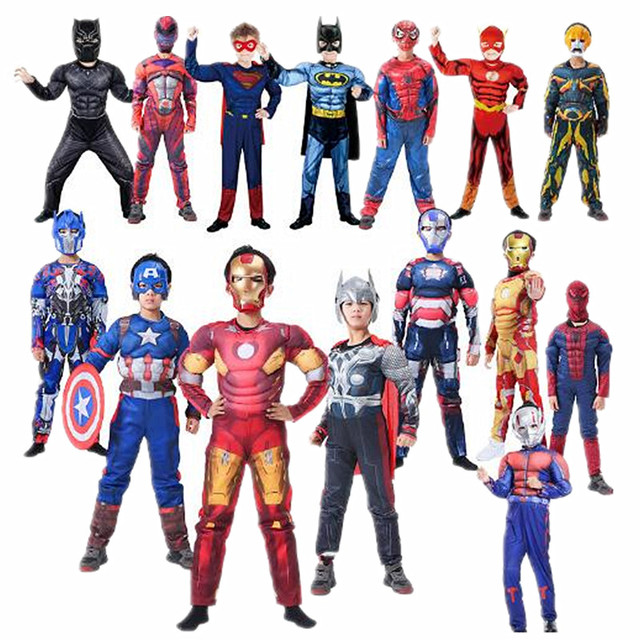 Halloween Avengers Superhero Cosplay Costume for Kids