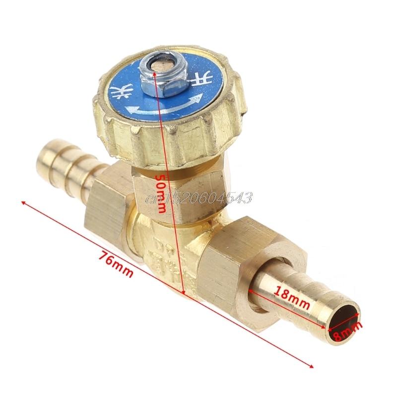 Elbow Brass Needle Valve Propane Butane Gas Adjuster Barbed Spigots 1 Mpa 8mm/10mm R06 Drop Ship
