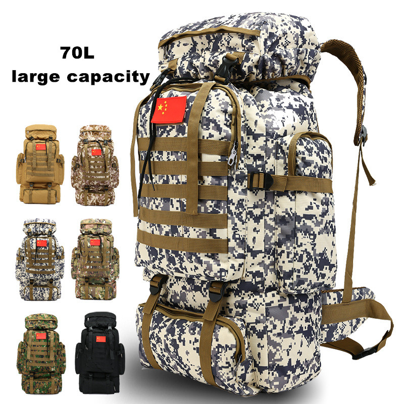 70L Large Capacity Backpack Tactical Military Army Bag Outdoor Hiking Camping Backpack Mochila Militar Molle Travel Bag