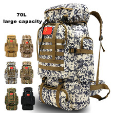 70L Large Capacity Backpack Tactical Military Army Bag Outdoor Hiking Camping Mochila Militar Molle Travel