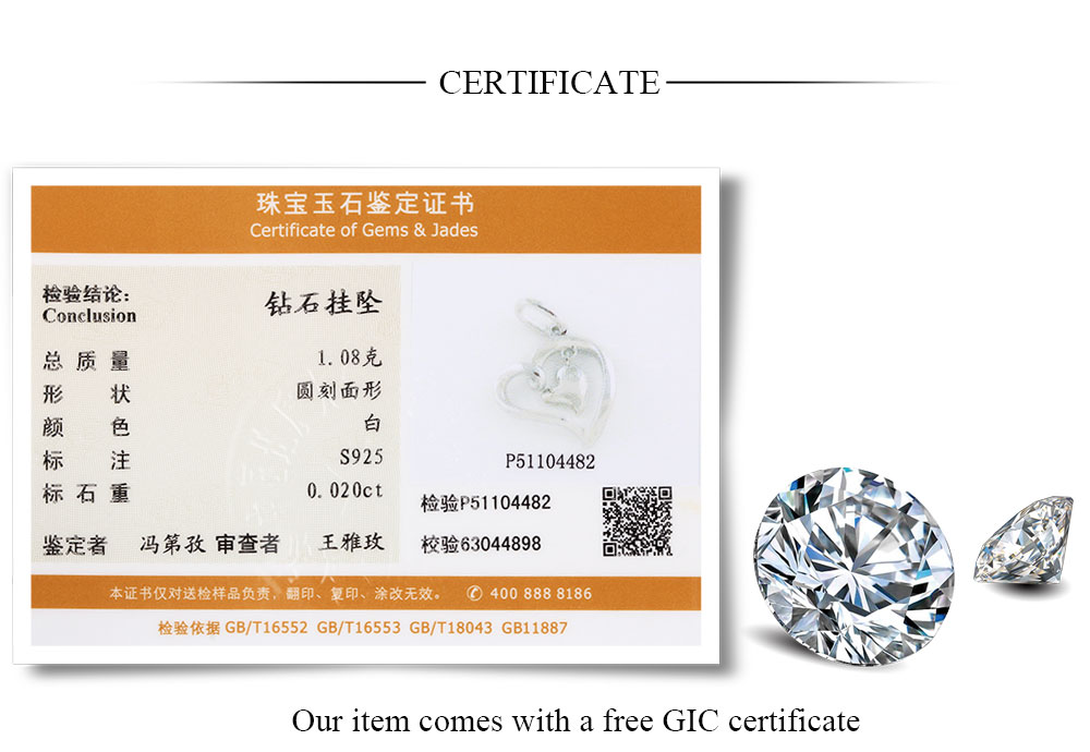 silver diamond pendants CAP03749SA-1 (20)