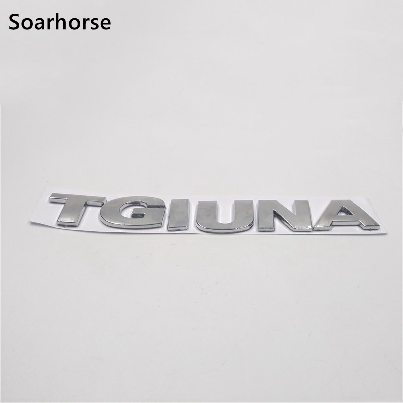 Soarhorse For VW Tiguan Emblem Decal Rear Boot Chrome Lettering Badge Logo Sticker auto chrome for 2008 2013 genesis front rear wing emblem badge sticker