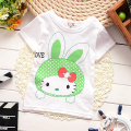New clever Baby Girls Tshirt Children Kt Short Sleeve 100% Cotton T-shirt tees Kids Summer Clothes