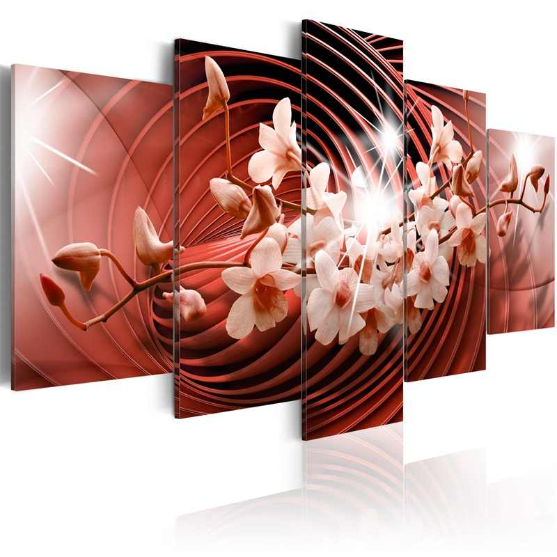 5 Pieces Printed Flower poster series Canvas Oil Painting Decoration Wall Picture In Living Room Modern Canvas Art  PJMT-B 433
