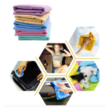 43*32 cm Super Absorption Microfiber Car Care Wash Towel Cleaning Synthetic Suede Chamois Home Bathroom Hair Drying Styling