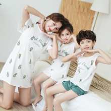 Family Matching Clothes Mother Kids Pajamas Dressing Gown Mo